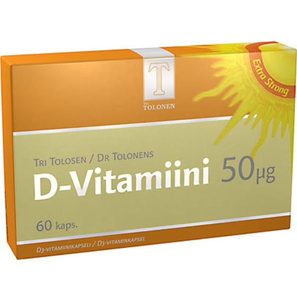 7f510042b Tri Tolonen D-vitamiini 50 mcg 60 kaps