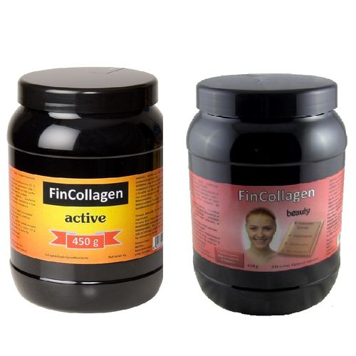 FinCollagen Active 450 g + FinCollagen Beauty 450 g