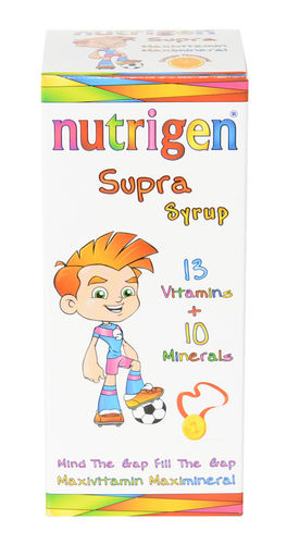 Nutrigen Supra Syrup 200 ml multivitamin multimineral supplement for children