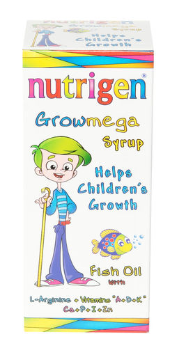 Nutrigen Growmega Fish-oil Syrup enriched with vitamins and minerals 200 ml