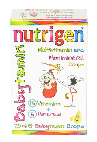 Nutrigen Babytamin multivitamin multimineral drops for newborns 25 ml