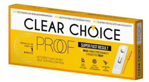 Clear Choice Proof laboratorioraskaustesti 1 kpl