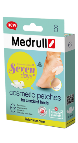 Medrull Cosmetic Patches for Cracked Heels laastarit halkeileville kantapäille 6 kpl